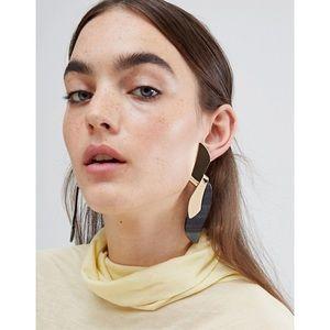 ASOS Statement Earrings in Twist Metal Design